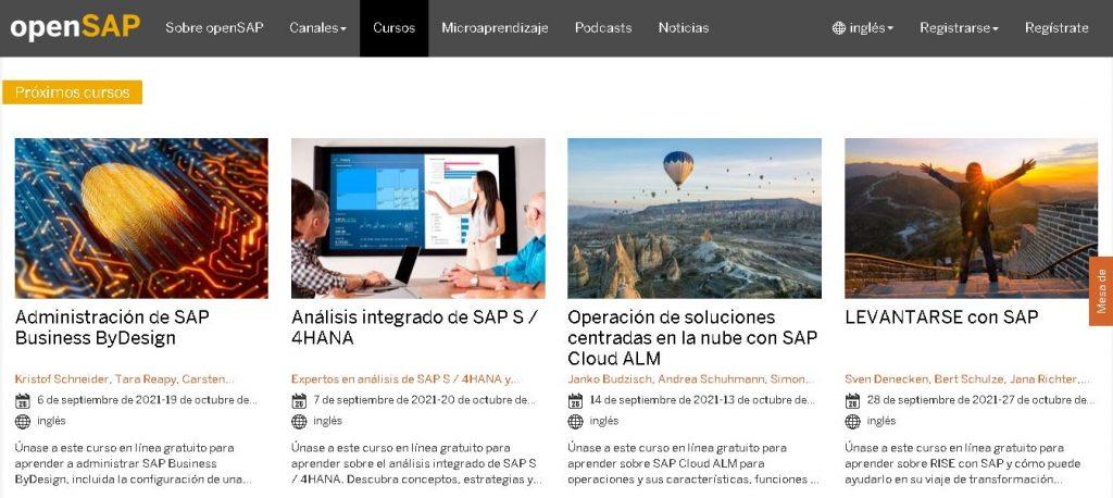 Plataformas virtuales gratuitas para aprender SAP